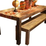 Wood Dining Table Made From Old Boats Modern And Classic Furniture