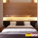 Wooden Bed Headboard Nice Lighting Effect