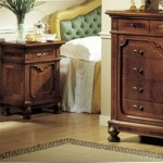 Wooden Bedside Table Drawers Granducato