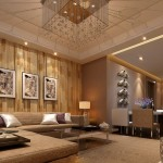 Wooden Wall Living Room And Dining House