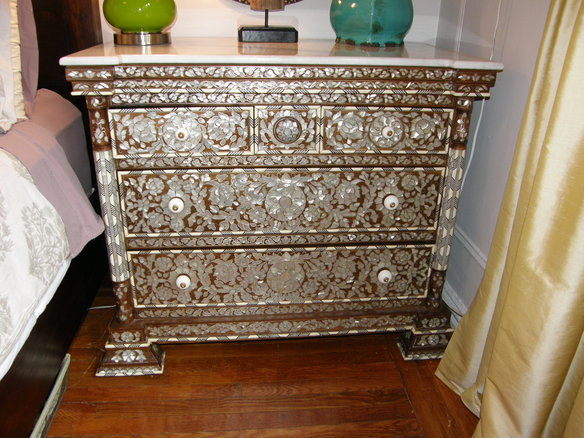 Wunderley Mother Pearl Inlay Chest Drawers East Harlem New