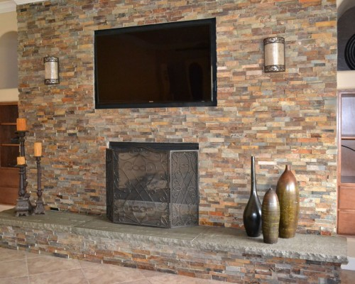 Yourson Contracting Blog Stone Veneer Fireplace