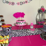 Zebra Runner Betty Used Large Pails For Chips And Colored