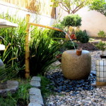 Zen Garden Patio Featured Water Fountain Decoration The