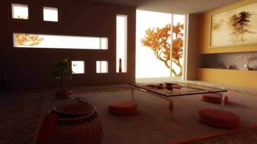 Zen Japanese Living Room Home Decorating Ideas