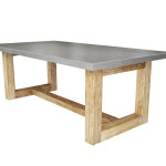 Zen Wood Dining Table Concrete Trueform Decor