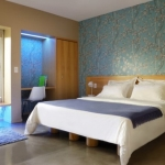 Master Bedroom Decorating Ideas Blue Patterned Picture