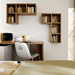 Walnut Wooden Study Table Design Dil