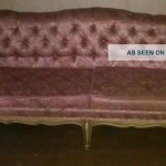 Antique Vintage Prince Howard Pink Sofa Couch Post