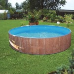 Rundpool Swimming Pool Holz Holzverkleidung Fun Wood Comp