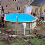 Wooden Pool Installation Build Assembly Service