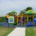 Amazing Playground For Backyard Designs Swing And Slide Green