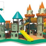 Safe Outdoor Solid Unti Static Lldep Plastic Castle Playground