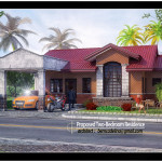 This Bungalow House Design Generated From Studio Max Software