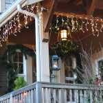 Christmas Front Porch Icicle Lights