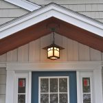 Light Fixture Over The Front Porch Casts Welcoming Beacon Guests