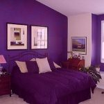 Interior Purple Paint Shades Modern Bedroom Purple Interior Room Color Ideas Beige Wall Painted Colors For Walls Metal Divan Bed Duvet Cover Pillows Picture Frame Wood Side