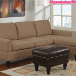 Beige Apartment Sectional Sofa Shaped