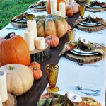 Outdoor Thanksgiving Table Settings Dining