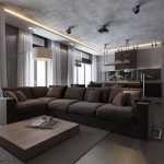 Plush Grey Sofa Interior Design