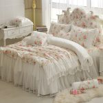 Aliexpress Buy Floral Printing Lace Princess Bedding Set Wedding Twin Queen