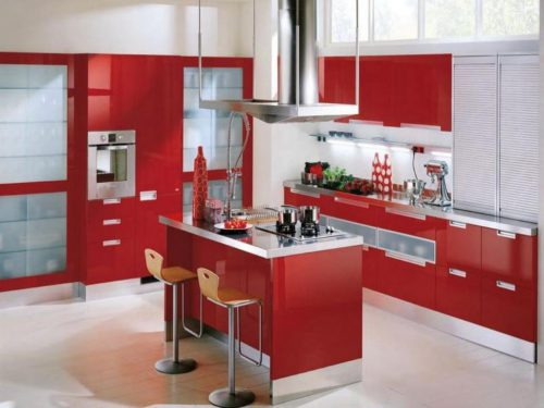 Amazing Value Red Kitchen Cabinets Home Design