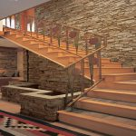 Architecture Interior Modern Home Design Ideas Stone Walls Decor