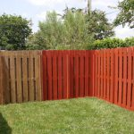 Attractive Painted Wood Fence Jessica Color