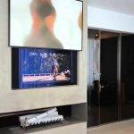 Automated Painting Lift Hide Above Fireplace Crescendo Designs