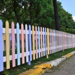 Awesome Painted Wood Fence Jessica Color
