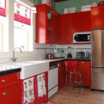 Awesome Red White Black Kitchen Tiles Khetkrong Sustainable