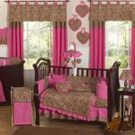 Baby Girl Room Ideas Brown Pink Cute Bedroom Home Furniture