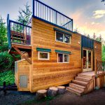 Basecamp Tiny Home Boasts Large Rooftop Deck Mountain Climbing Couple