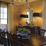 Beautiful Classic Dining Room Textured Black Accents Great Chande