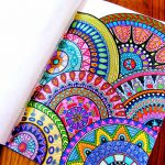Beautiful Colored Zentangle Doodles Bilder