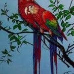 Beautiful Natural Love Glass Painting Designs