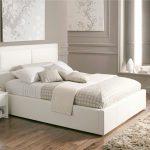 Beautiful White Color Leather Beds Time Sleep