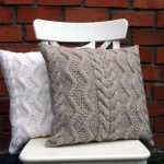 Beige Gray Off White Cable Knit Pillow Cover
