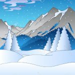 Best Snowy Mountains Clipart