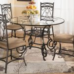 Bianca Round Glass Dining Table Four Chairs Signature Top Room