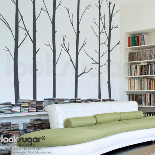 Bird Tree Decal Winter Modern Wall