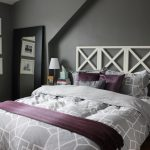 Black Purple Light Grey Bedroom Design White Pink