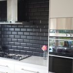 Black Tiled Kitchen