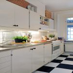 Black White Kitchen Floor Tiles Wood