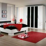 Black White Red Bedroom Decorating Ideas Home