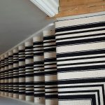 Black White Stripe Carpet Flooring
