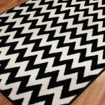 Black White Striped Rug Greenvirals