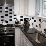 Black White Tiles Kitchen Subway Tile