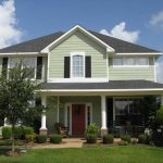 Bloombety Exterior Paint Color Ideas Light Green