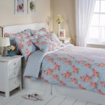 Blue Floral Cotton Bedding Bed Linen Duvet Cover Set Bedspread